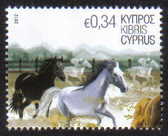 Cyprus Stamps SG 1265 2012 34c Horse - MINT