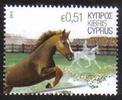 Cyprus Stamps SG 1266 2012 51c Horse - MINT