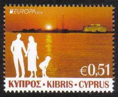 Cyprus Stamps SG 2012 (e) 51c Europa Visit - MINT