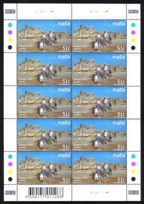 Malta Stamps SG 1374 2004 Europa Holidays Hagar Qim Prehistoric Temple 51 c