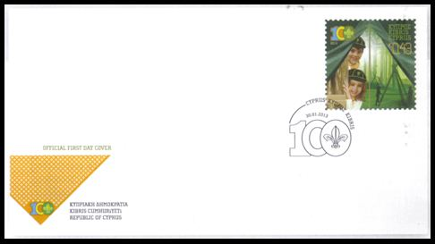 2013 Cyprus Scouts Association Centenary FDC