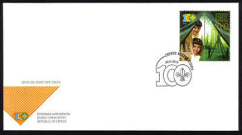 Cyprus Stamps SG 1292 2013 Cyprus Scouts Association Centenary - Official FDC