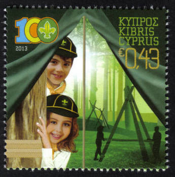 Cyprus Stamps SG 1292 2013 Cyprus Scouts Association Centenary - MINT