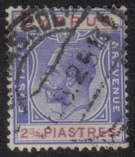 Cyprus Stamps SG 109 1924 2 3/4 Piastres - USED (h416)