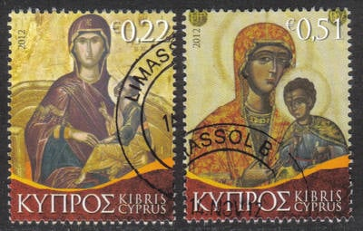 Cyprus Stamps SG 2012 (h) Christmas Virgin Mary Icons - USED (h426)