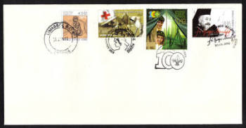 Cyprus Stamps SG 2013 (a) 30th of January Issues Makarios, Cyprus Scouts and Cyprus Red Cross  - Unofficial FDC (h438))