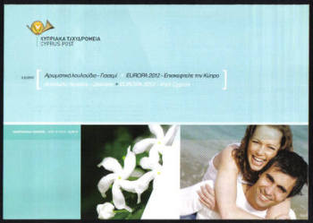 Cyprus Stamps Leaflet 2012 Issue No 4 + 5 Flowers Jasmine, Europa Visit