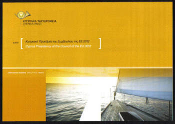 Cyprus Stamps Leaflet 2012 Issue No 6 Presidency of the council of the EU