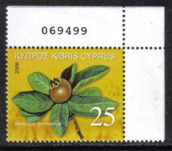 Cyprus Stamps SG 1113 2006 Europa 25c - Control numbers MINT