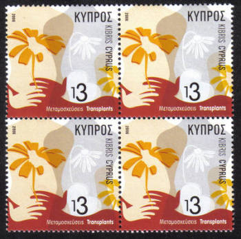 Cyprus Stamps SG 1115 2006 Transplants - Block of 4 MINT
