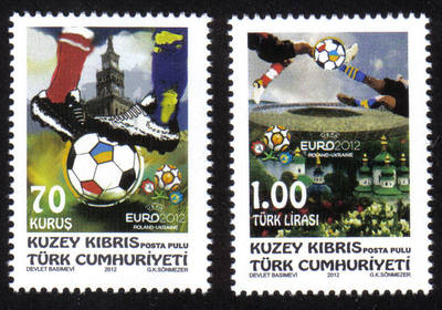 North Cyprus Stamps SG 2012 (d) European Football Championship - MINT