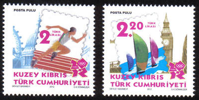 North Cyprus Stamps SG 2012 (e) London Olympic Games - MINT