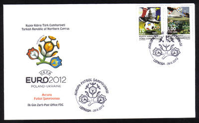 North Cyprus Stamps SG 2012 (d) European Football Championship - Official F