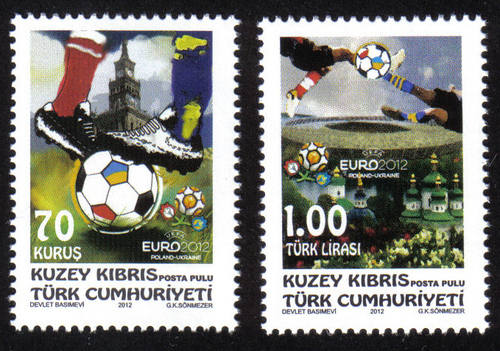 2012 Football North Cyprus stamps UEFA