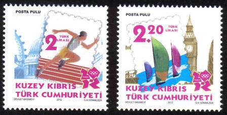 2012 London Olympic Games North Cyprus stamps