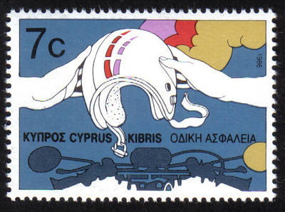Cyprus Stamps SG 690 1986 7 cents Road safety - MINT