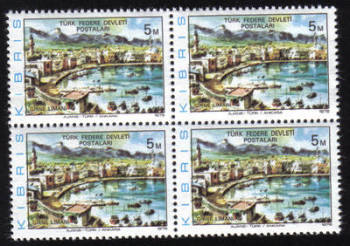 "North Cyprus Stamps SG 036 1976 5m Redrawn ""1976"" - Block of 4 MINT"