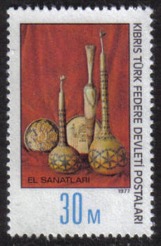 North Cyprus Stamps SG 052 1977 30 mils Pottery - MINT
