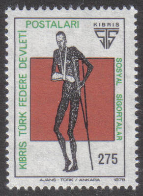 North Cyprus Stamps SG 061 1978 275k Social Security - MINT