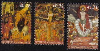 Cyprus Stamps SG 1294-96 2013 Easter - MINT