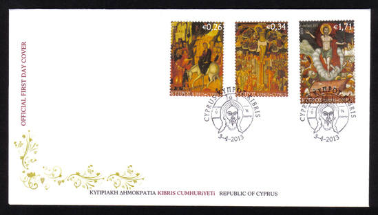 Cyprus stamps 2013 - Easter FDC