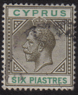Cyprus Stamps SG 080 1912 Six Piastres - USED (h474)