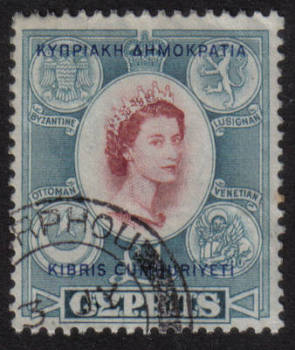 Cyprus Stamps SG 202 1960 Definitive One Pound MORPHOU Cancel - USED (h475)