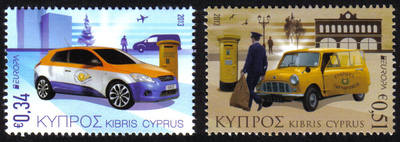 Cyprus Stamps SG 2013 (e) Europa issue Postal Vehicles  - MINT