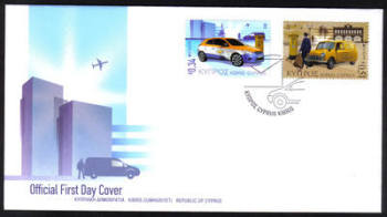 Cyprus Stamps SG 1297-98 2013 Europa issue Postal Vehicles  - Official FDC