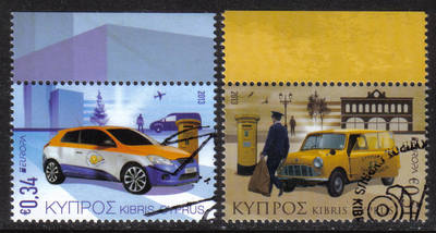Cyprus Stamps SG 2013 (e) Europa issue Postal Vehicles  - CTO USED (h489)