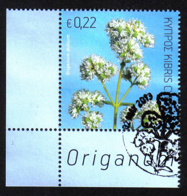 Cyprus Stamps SG 2013 (f) Aromatic stamp Oregano 22 cents - CTO USED (h486)