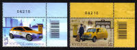 Cyprus Stamps SG 1297-98 2013 Europa issue Postal Vehicles  - Control numbers MINT