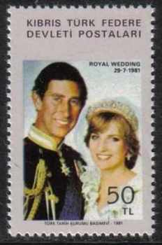 North Cyprus Stamps SG 121 1981 Royal Wedding - MINT