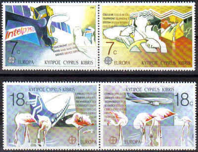 Cyprus Stamps SG 718-21 1988 Europa Transport - MINT
