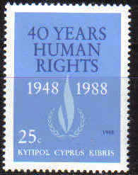 Cyprus Stamps SG 734 1988 Human rights - MINT