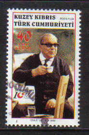 North Cyprus Stamps SG 0634 2006 100th Birth Centenary of Dr Fazil Kucuk - Used (b173)