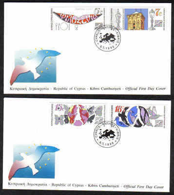 CYPRUS STAMPS SG 776-79 1990 FDC EUROPEAN TOURISM YEAR (a212)