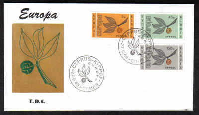 Cyprus Stamps SG 267-69 1965 Europa Sprig - Unofficial FDC (a357)