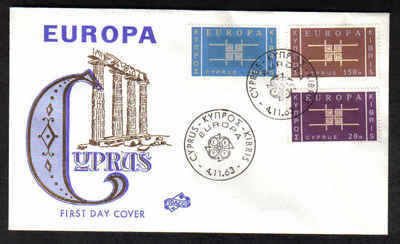 Cyprus Stamps SG 234-36 1963 Europa Emblem - Unofficial FDC (a353)