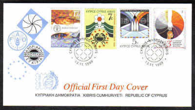 Cyprus Stamps SG 752-55 1989 Anniversaries & Events - Official FDC (a209)