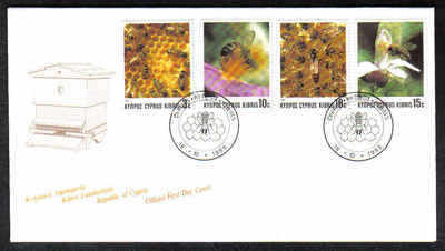Cyprus Stamps SG 748-51 1989 Bee keeping in Cyprus - Official FDC (a208)