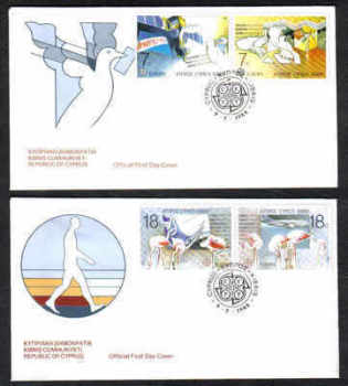 Cyprus Stamps SG 718-21 1988 Europa Transport and Communications - Official FDC