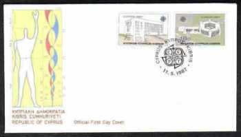 Cyprus Stamps SG 704-05 1987 Europa Modern Architecture - Official First Day Cover (a204)
