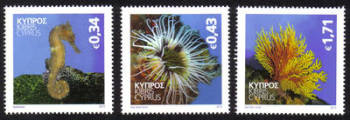 Cyprus Stamps SG 1301-03 2013 Organisms of the Mediterranean marine environment - MINT