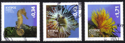 Cyprus Stamps SG 2013 (g) Organisms of the Mediterranean marine environment