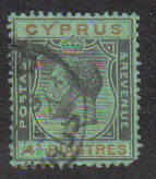 Cyprus Stamps SG 111 1924 Four and a half Piastres - USED (b690)