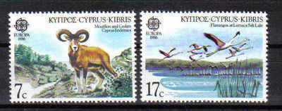 Cyprus Stamps SG 678-79 1986 Europa Nature Conservation - MINT