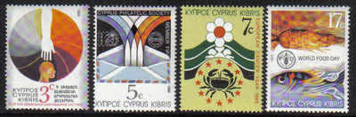 Cyprus Stamps SG 752-55 1989 Anniversaries and Events - MINT