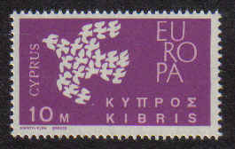 CYPRUS STAMPS SG 206 1962 10 MILS - MINT