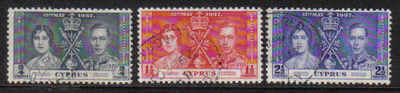 Cyprus Stamps SG 148-50 1937 Coronation - USED (a311)